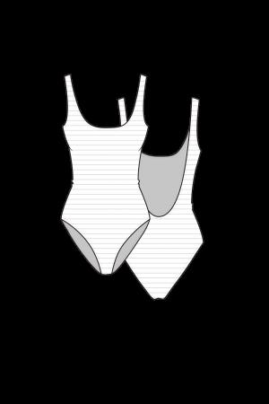 גיזרת בגד ים  שלם - גופיה ספורטיבית  המחיר למידה אחת