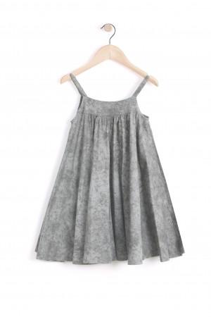 שמלת כתפיות אפורה