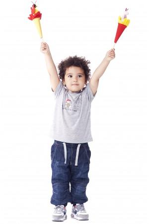 חולצה הדפס שפן לתינוקות וילדים קטנים