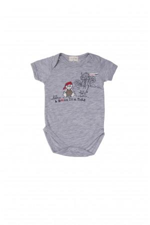 שפן ובית -בגד גוף לתינוקות