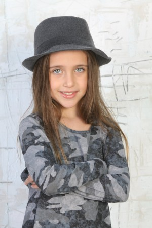 כובע לבד אפור