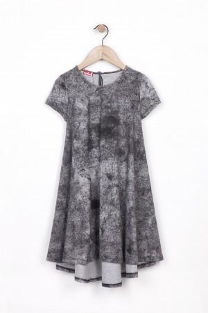 שמלה קולית ומסתובבת עם ריסטור שחור
