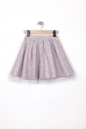 חצאית טול פרחונית מסתובבת