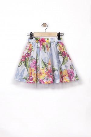 חצאית שתי שכבות טול מסתובבת