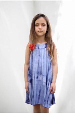 שמלת Tye dye מסתובבת בצבע כחול