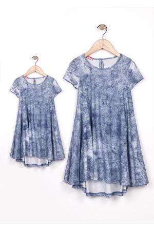 נגיעות בכחול, שמלות תואמות לאם ולבת mom & me